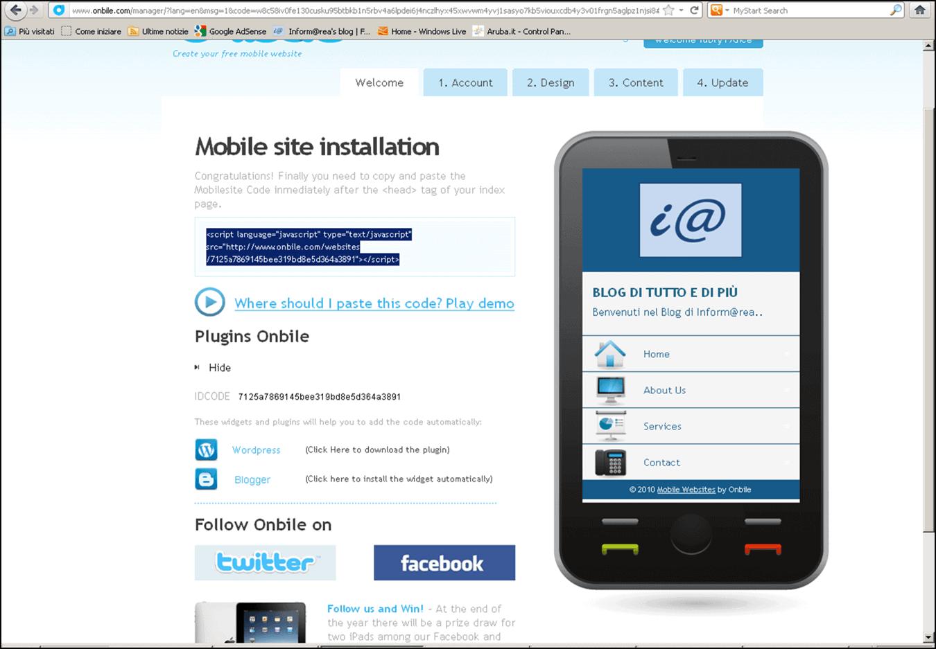 Onbile - Realizziamo una versione Mobile del nostro Sito web