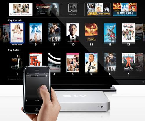 apple remote with apple tv graphic - L'Apple TV: la scatola delle meraviglie voluta da Steve Jobs