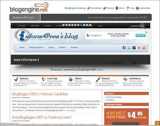 dotnetblogengine - Rilasciato BlogEngine.net 2.6 - Nuove funzionalità e imprevisti da superare