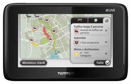 tomtom go live 1005 world live it new - I migliori Navigatori GPS del 2012