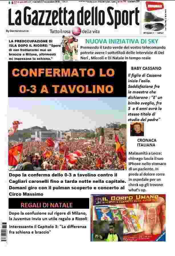 Gazzetta satira - La Satira in prima pagina 28 novembre 2012