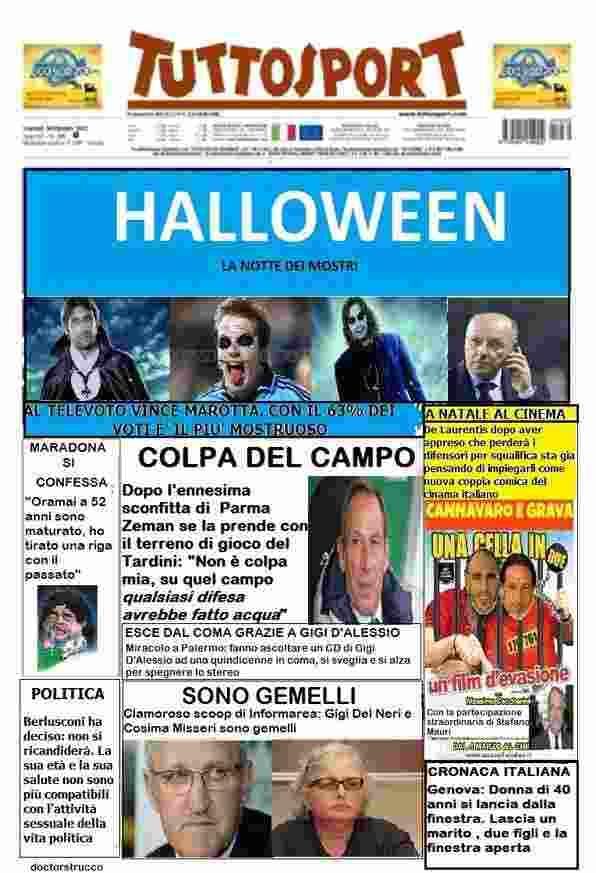 Satira inPrimaPagina - La satira in prima pagina 2 novembre 2012