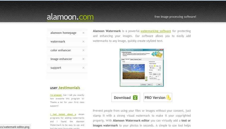 alamoon - Firmiano le nostre immagini prima di pubblicarle sul web