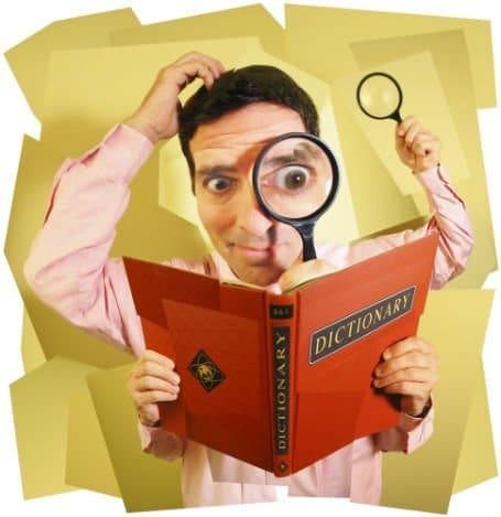 dictionary illustration - Il vocabolario della terminologia Web Analysis