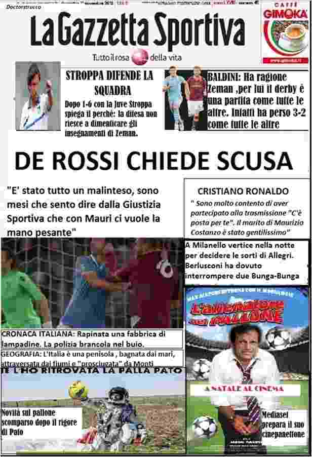 satira News - La satira in prima pagina 13 novembre 2012