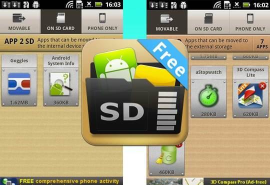 app2sd android smartphone - Spostare le App su una scheda SD