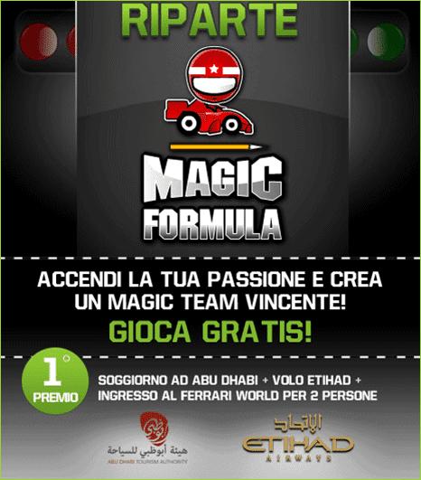 fantaformula - Partecipa anche tu a Magic Formula 1