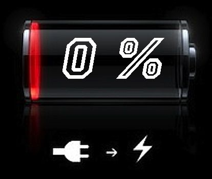 1.batteria scarica - Come migliorare l'autonomia del vostro Smartphone