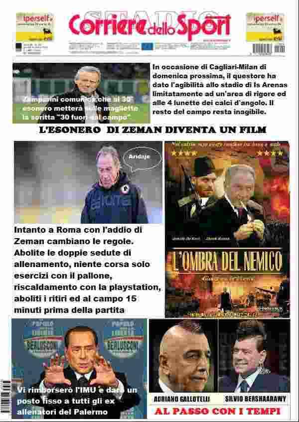 satiradellosport - La satira in prima pagina 6 febbraio 2013