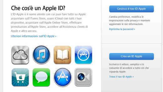 creaIDAPPLE 1 - Come creare, cambiare, recuperare un ID Apple