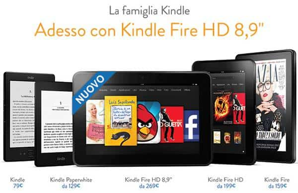 "kindle fire hd 89 - Il Kindle Fire HD 8,9"" da oggi è disponibile anche in Italia"