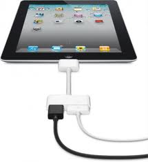 1.adattatore iPad2 - Come collegare un iPad o un iPhone alla TV