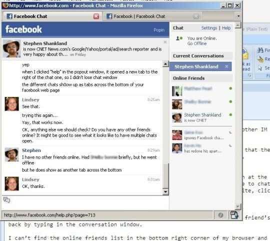 facebookChat - Come salvare le conversazioni nella chat di Facebook