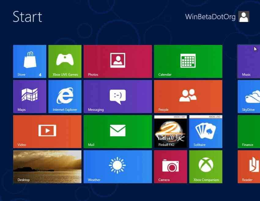 installare windows blue