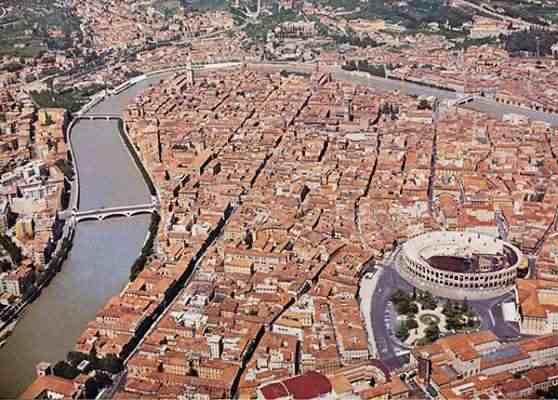 Verona veduta aerea - Verona, un'estate di eventi imperdibili