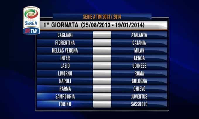 calendario serieA - Ecco il calendario Serie A 2013-14 - tutte le partite