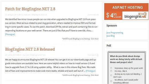BE 28 - BlogEngine.NET 2.8 - Nuovi bug corretti e piccoli miglioramenti