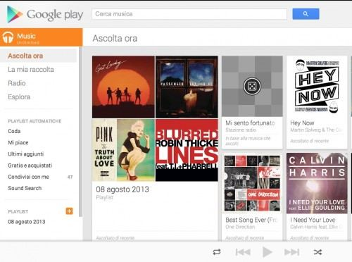 googleplay music Unlimited - Google presenta Google Play Music e sfida Spotify
