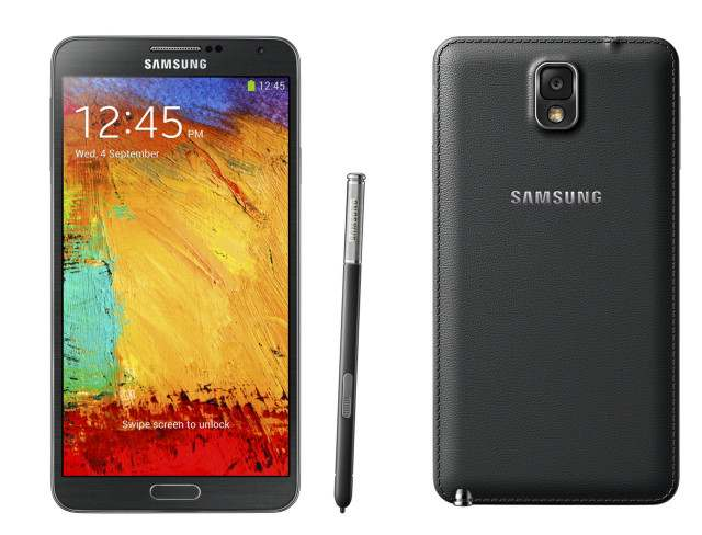 Samsung Galaxy Note 3 front back.jpg 640x488 - Presentato all'IFA di Berlino 2013 il nuovo Samsung Galaxy Note 3