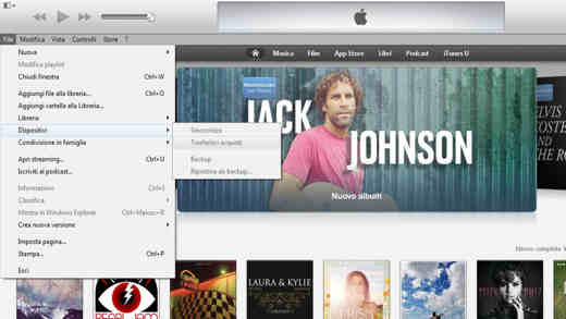 trasferisci acquisti2 - Come trasferire le App da un iPhone all'altro con iTunes