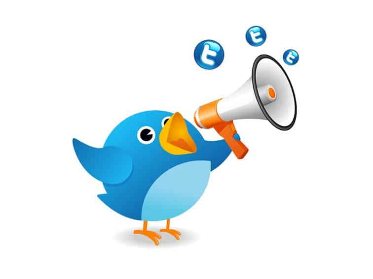 twitter logo hashtag - I cinguettii di Twitter verso Wall Street