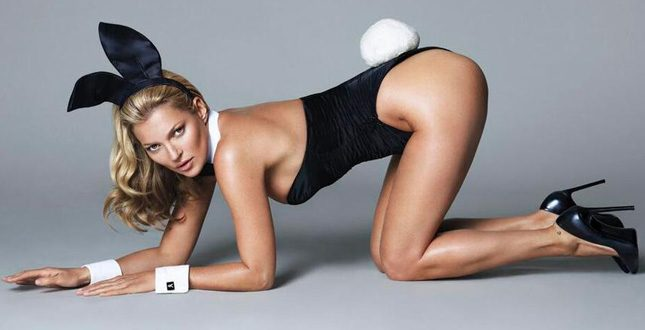 1.kate moss playboy - Kate Moss a gennaio coniglietta per Playboy