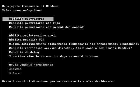 modalit%c3%a0 provvisoria al riavvio - Come avviare Windows in modalità provvisoria e rimuovere i Virus