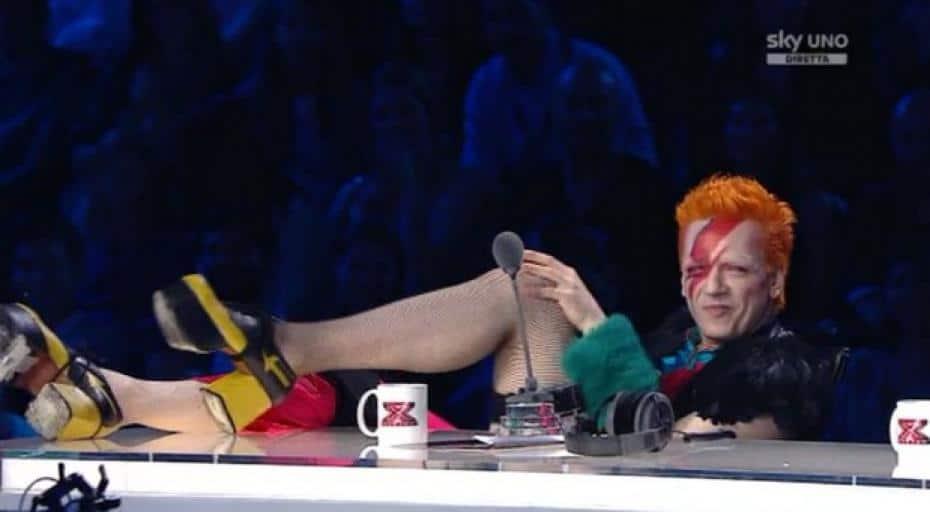 morgan vestito da david bowie a x factor - X Factor 2013: Puntata di giovedì 7 Novembre
