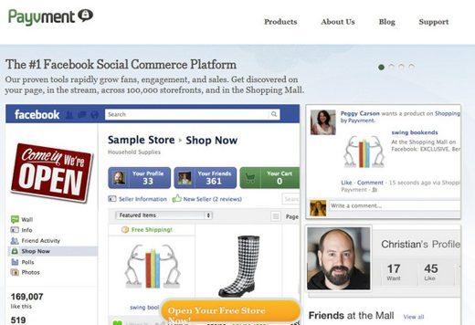 payvment - Come aprire un negozio online su Facebook