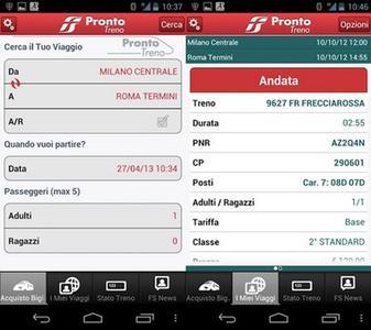 prontotreno trenitalia - ProntoTreno l'App di Trenitalia