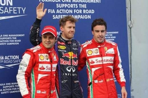 qualifiche gp malesia 2013 vettel massa alonso - Formula 1 2013: L'ultimo saluto di Massa nella gara di Interlagos