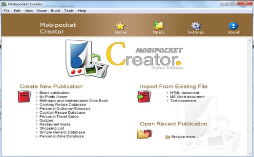 Mobipocket creator - Come convertire documenti di testo in eBook