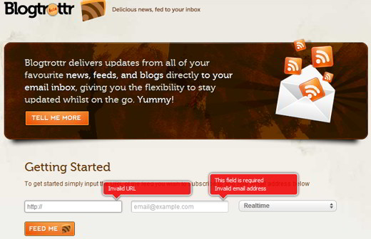 blogtrottr - Come ricevere i Feed RSS via e-mail