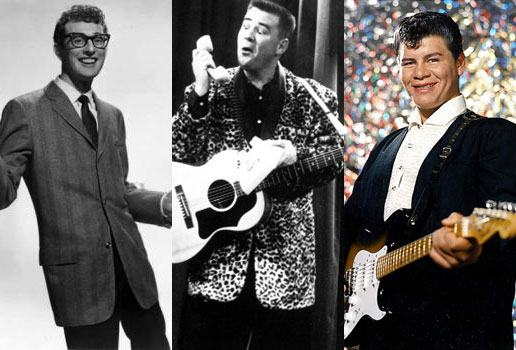 buddy holly jp richardson big bopper ritchie valens - Buddy Holly e Ritchie Valens due vite stroncate da un tragico destino