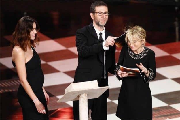 kasia smutniak incinta a sanremo 2014 - Kasia Smutniak non dimentica il suo Pietro