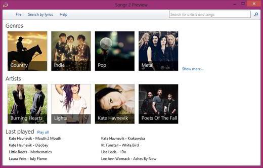 songr1 - Songr: l'applicazione streaming che aggrega i motori di ricerca musicali