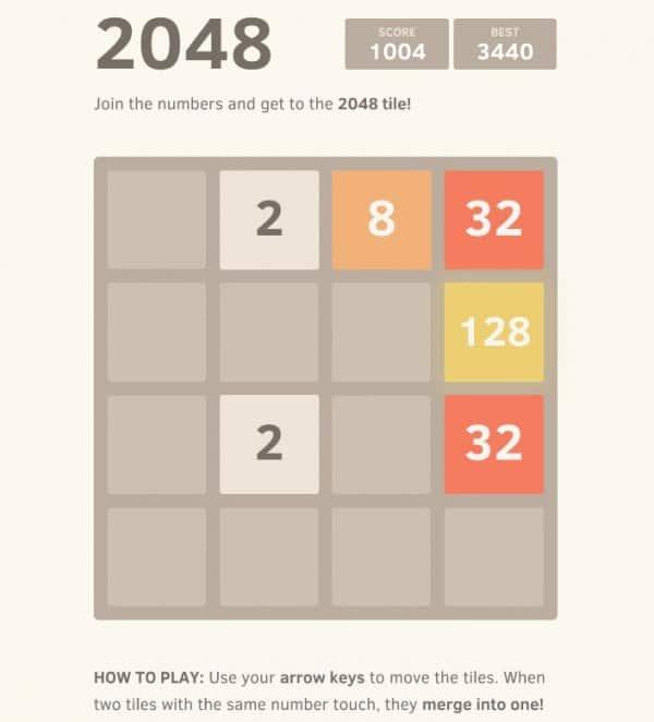 2048 t - Come si gioca e come vincere a 2048
