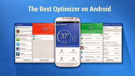 clean master menu - Clean Master l'app che libera spazio al tuo smartphone