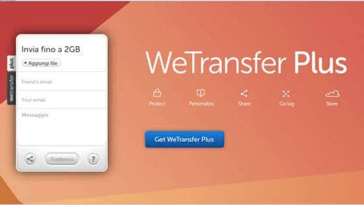 weTransfer - WeTransfer il servizio per trasferire file fino a 10 GB