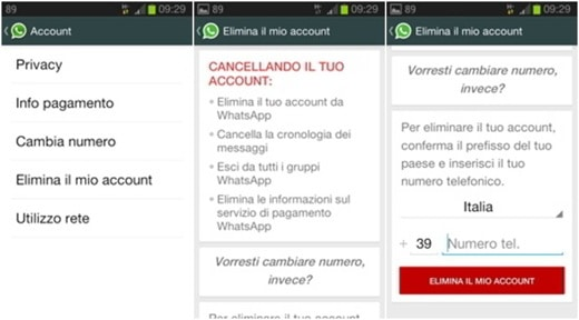 elimina account whatsapp - Come eliminare un account WhatsApp