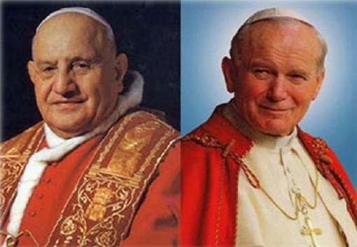 giovanni xxiii e giovannipaoloII - Papa Giovanni XXIII e Papa Giovanni Paolo II proclamati Santi