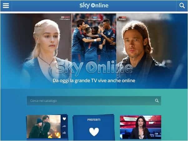 skyONLINE streaming - Sky lancia Sky Online e sfida Mediaset Infinity