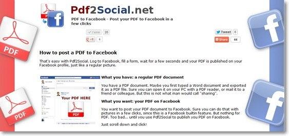Pdf2Social - Pubblicare documenti PDF su Facebook