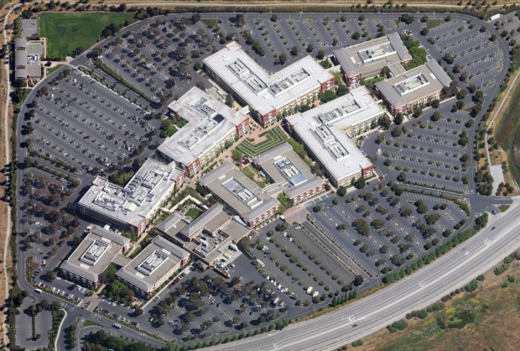 panoramica sede facebook - Le sedi di lavoro dei colossi tecnologici
