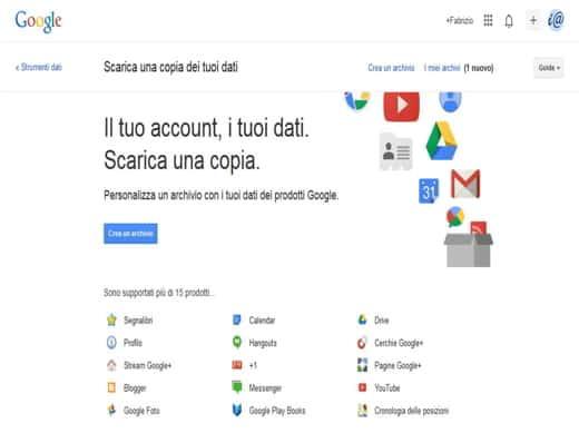 Takeout - Come salvare e recuperare contatti, email, calendario e altro dal tuo account Google