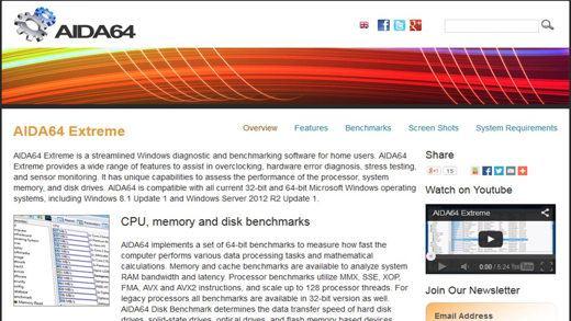 AIDA64 - Vedere i componenti hardware del nostro PC