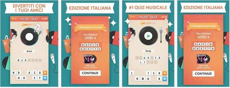 music quiz Android iOS - Le soluzioni dei 300 livelli del gioco Music Quiz - Quiz Musicale - per Android e iOS