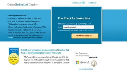 Brokenlinkcheck - Come individuare i collegamenti a pagine web che non esistono più - Broken link