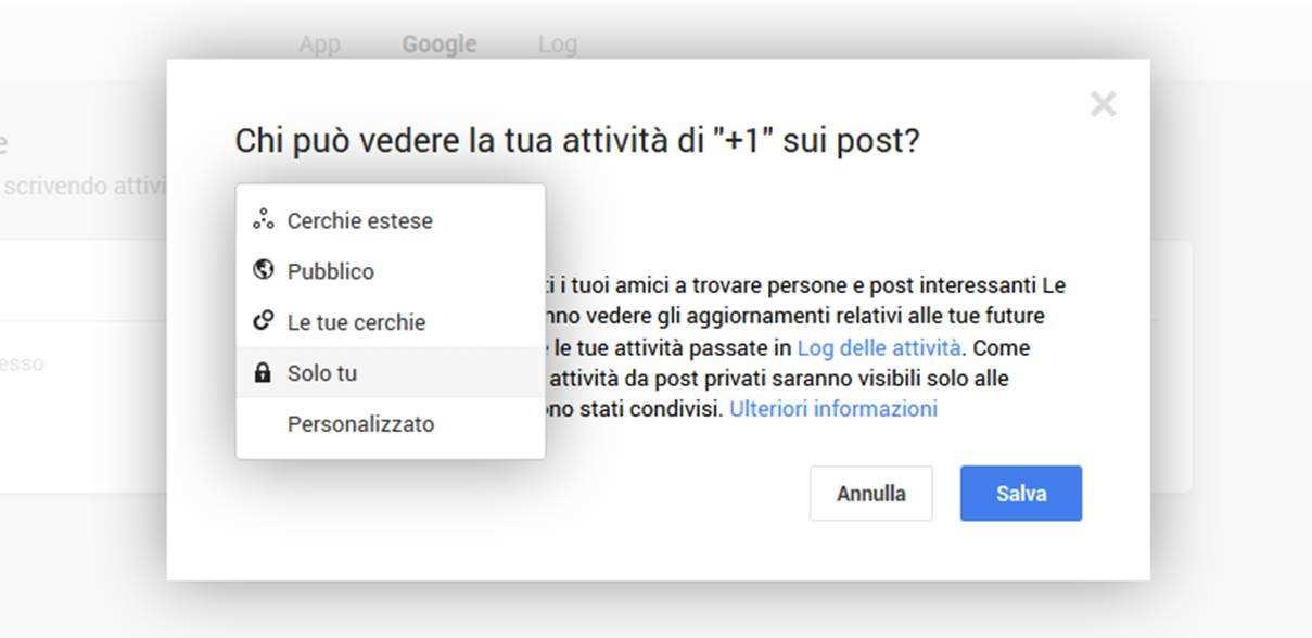 Privacy Google Plus - Come impostare la Privacy del +1 in Google Plus