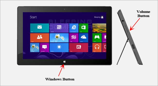 screenshot Surface Pro e Surface RT - Come eseguire e salvare lo screenshot (schermata) sui Surface RT e Surface PRO